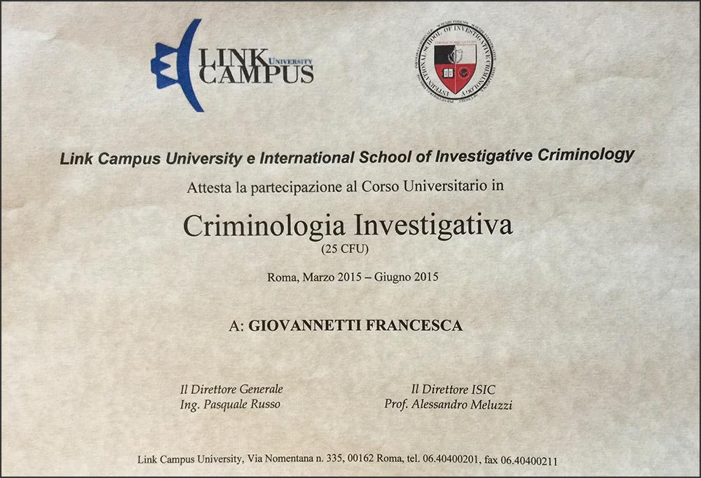 Diploma Criminologia Investigativa